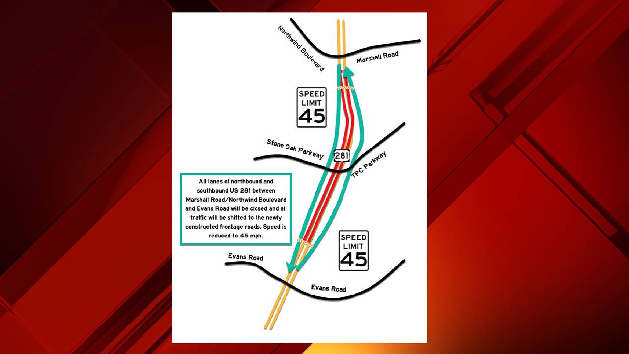 Major 281 Closure This Weekend Ahead Of Traffic Switch