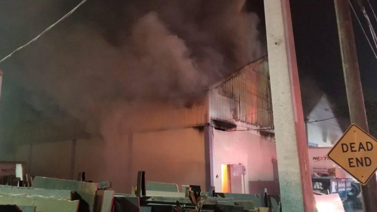 Taramac Warehouse Fire 2