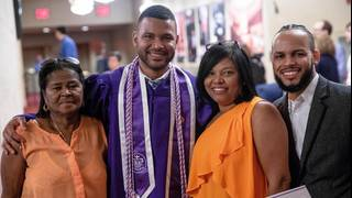 Nurse graduates from NYU years after he worked there as a