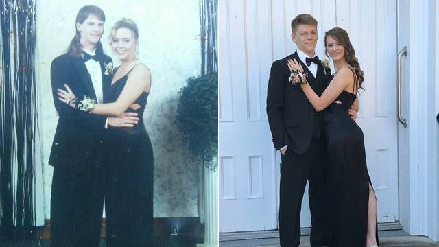 Teen Finds Comfort in Wearing Her Late Mom\'s Prom Dress to Her...