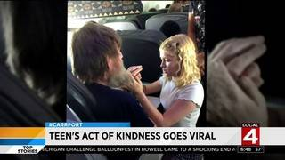 Teen's act of kindness goes viral -- 'don't take stuff for granted'
