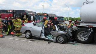 Jaws of Life used to rescue man after I-75 crash in Weston
