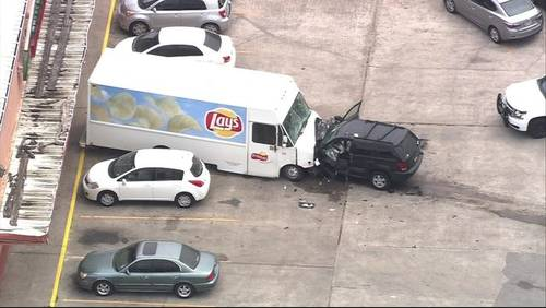 Video shows violent crash at end of chase in east Harris County