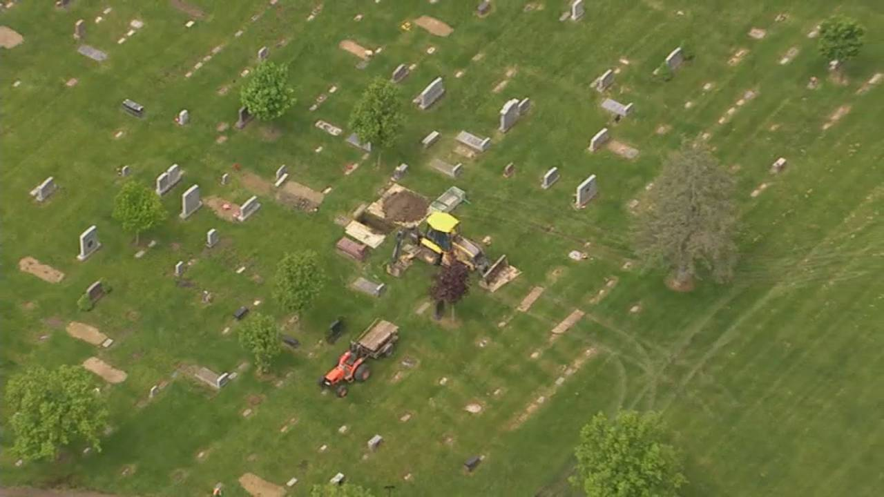 Canton Township cemetery dig aerials 3