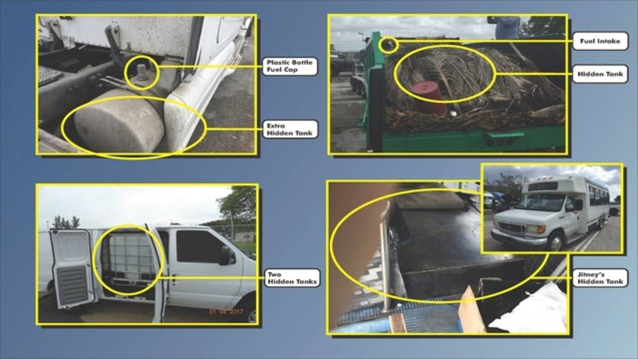 Illegal fuel tanks in vehicles