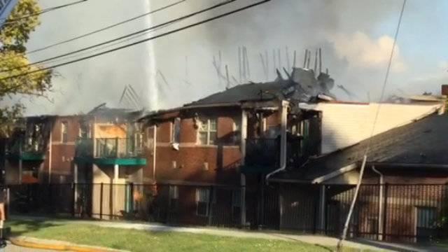 West Manor apartment complex fire scene 3
