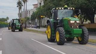 Farmers protest new trade policies at Trump resort in Doral