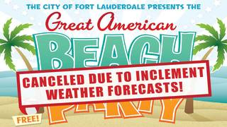Great American Beach Party canceled because of Alberto