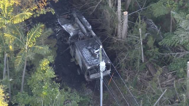 Pinecrest Electrocution Charred Truck