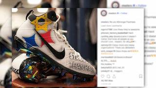 Steelers quarterback honors shooting victims with custom cleats