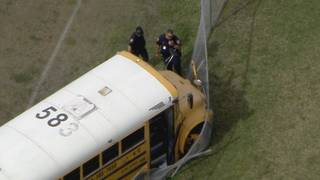 Private school bus crashes into fence at Westland Hialeah Senior High School