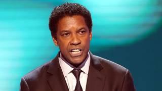 Denzel Washington recalls watching Kawhi Leonard play after father's death