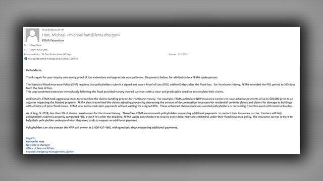 FEMA letter to KPRC2