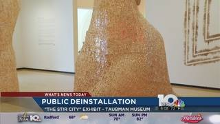 "Public invited to help take down ""Stir City"" art exhibit Sunday"