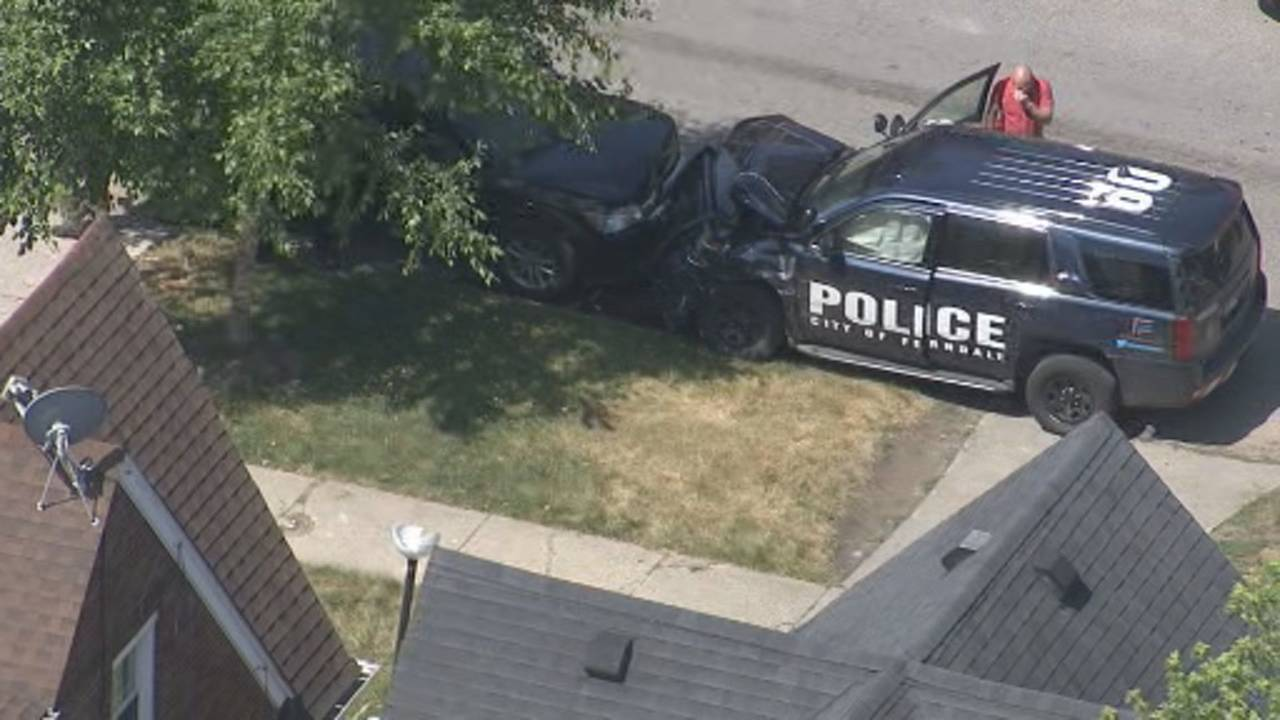 Stolen Ferndale police car crash