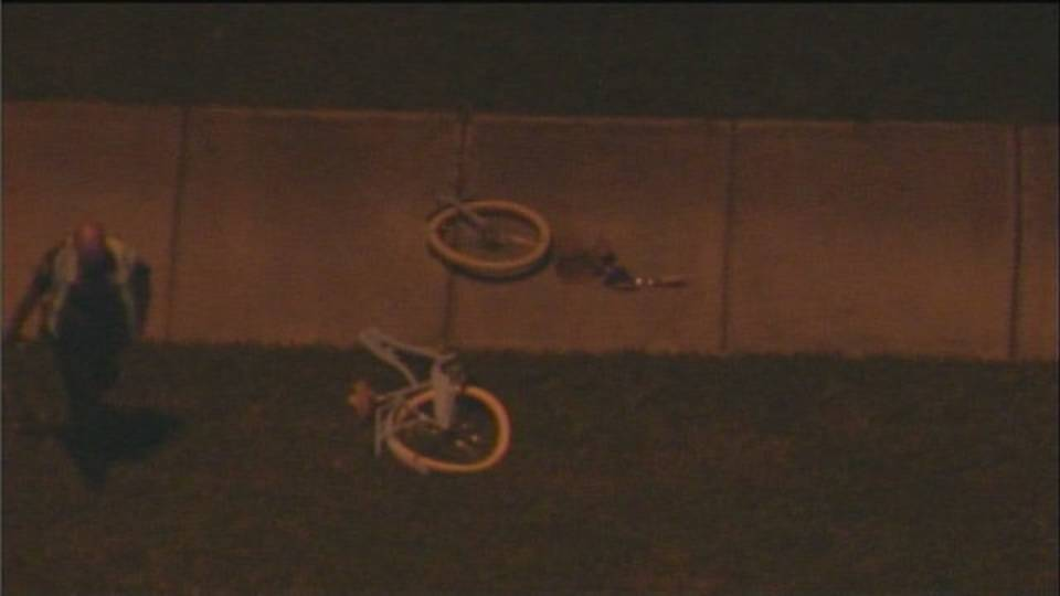 Bike split in half in pembroke pines