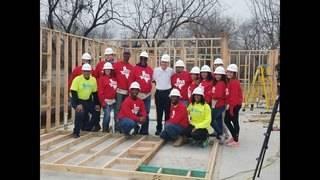 PHOTOS: KPRC Habitat Home sponsors working hard at build site