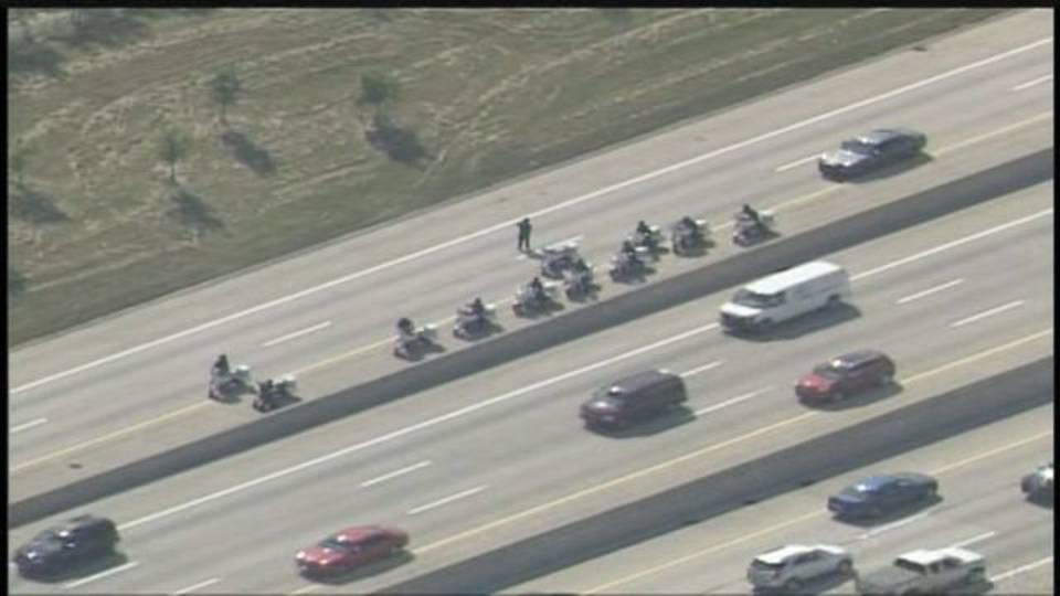 11 DPD motorcycle officers I-96 crash scene