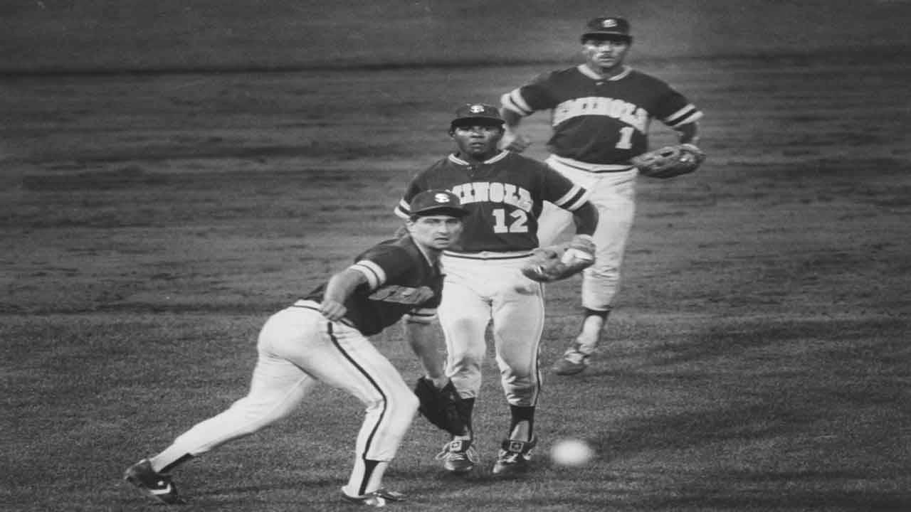 Florida State Seminoles Richie Lewis, Bien Figueroa and Luis Alicea beat Miami Hurricanes in 1986 College World Series