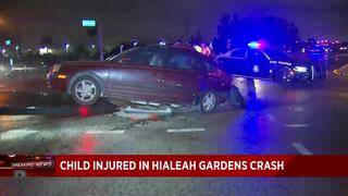 7-year-old child hurt in 3-car crash in Hialeah Gardens
