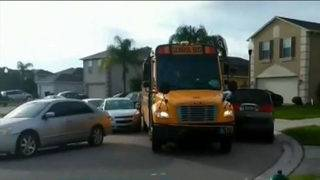 Parked cars create problem for school buses navigating Osprey Ridge neighborhood