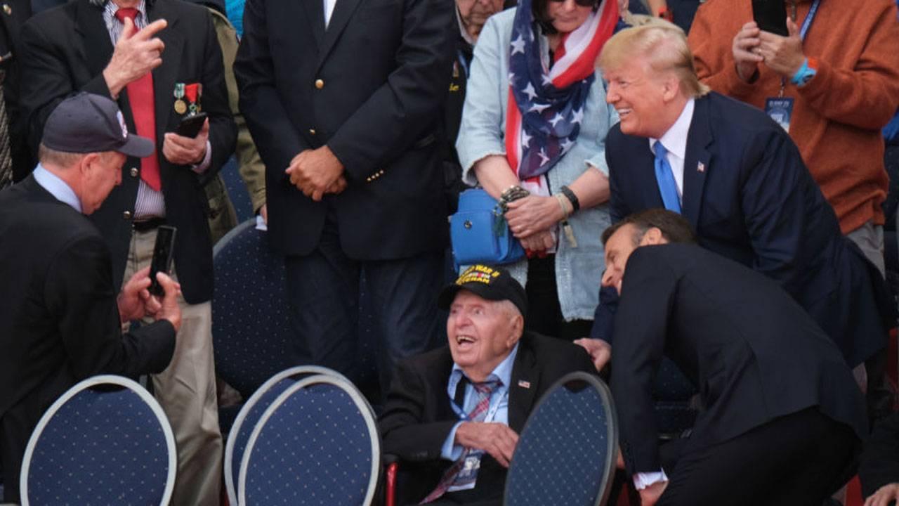 Macron Trump Veteran
