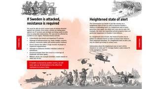 Sweden to send war pamphlet to 4.8 million households