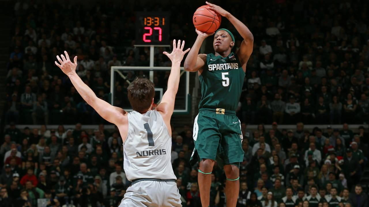 Cassius Winston Michigan State basketball 2018