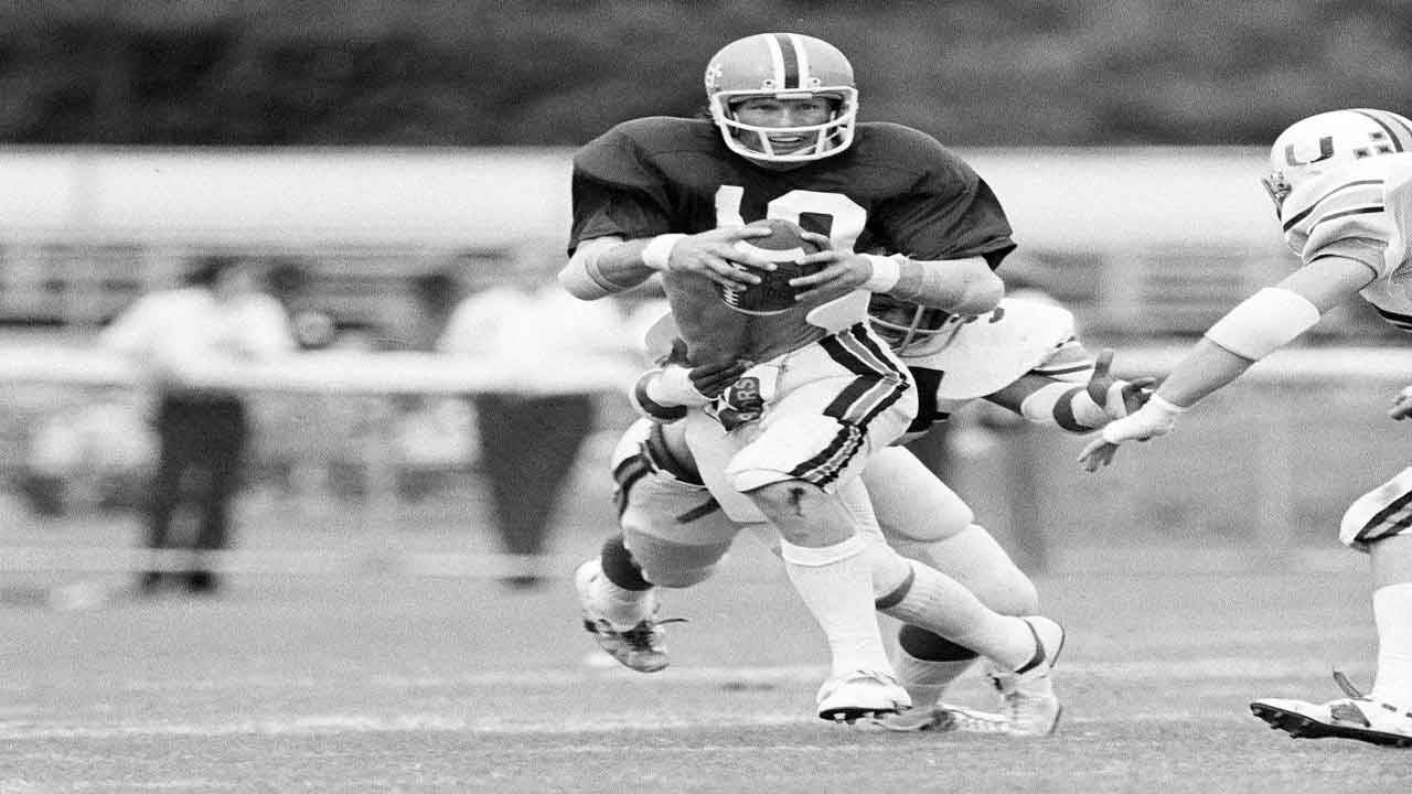 Florida Gators QB Jimmy Fisher vs Miami Hurricanes in 1976