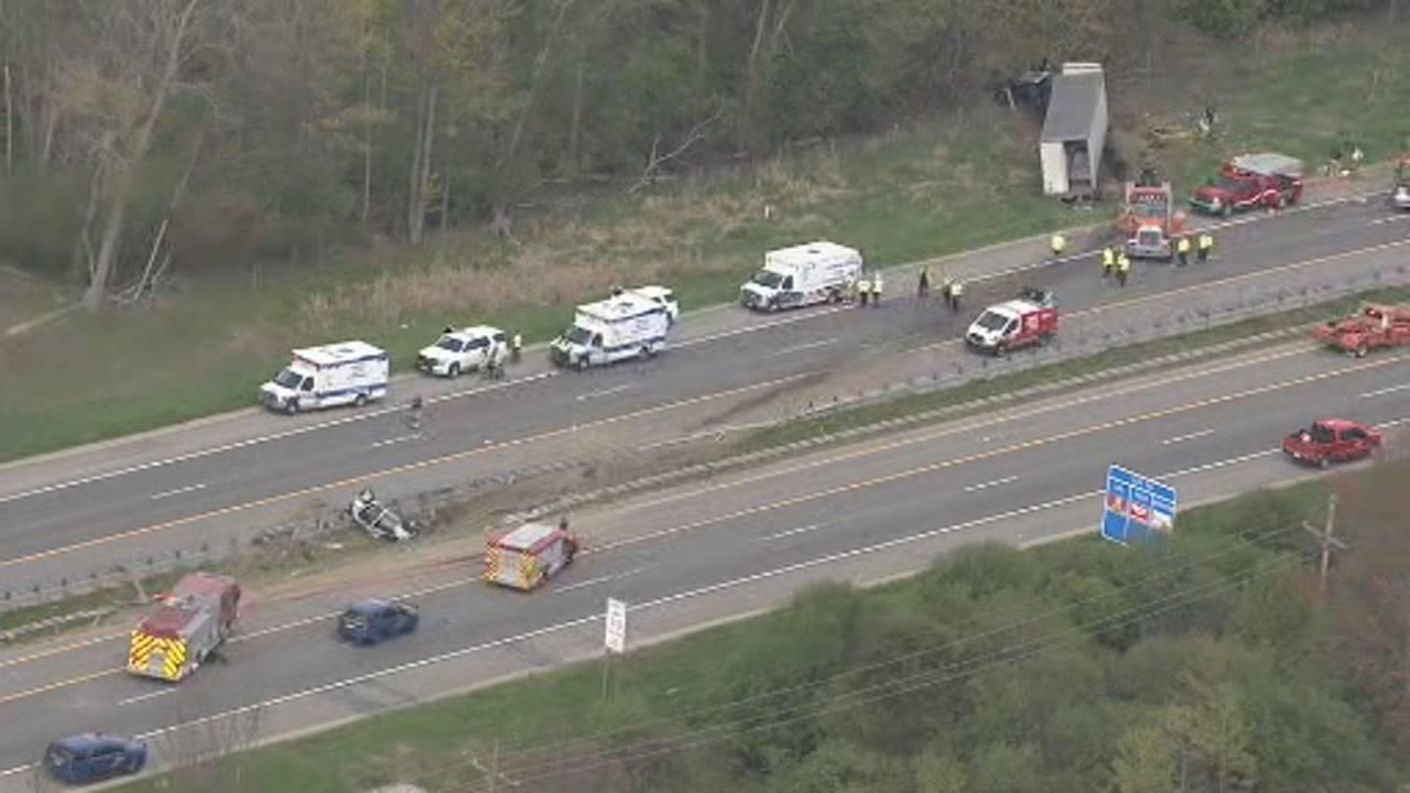 US 23 Northfield Township semi truck crash 4