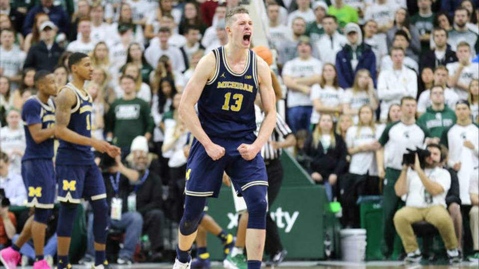 Mo Wagner Michigan basketball vs Michigan State 2018