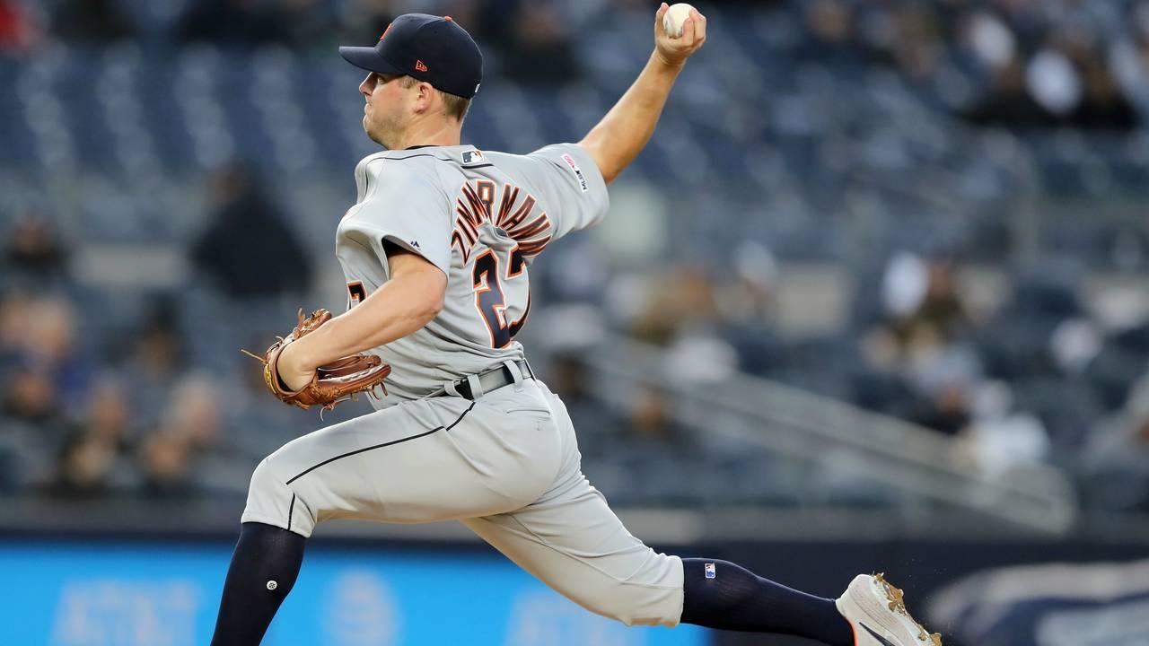 Jordan Zimmermann Detroit Tigers vs Yankees 2019