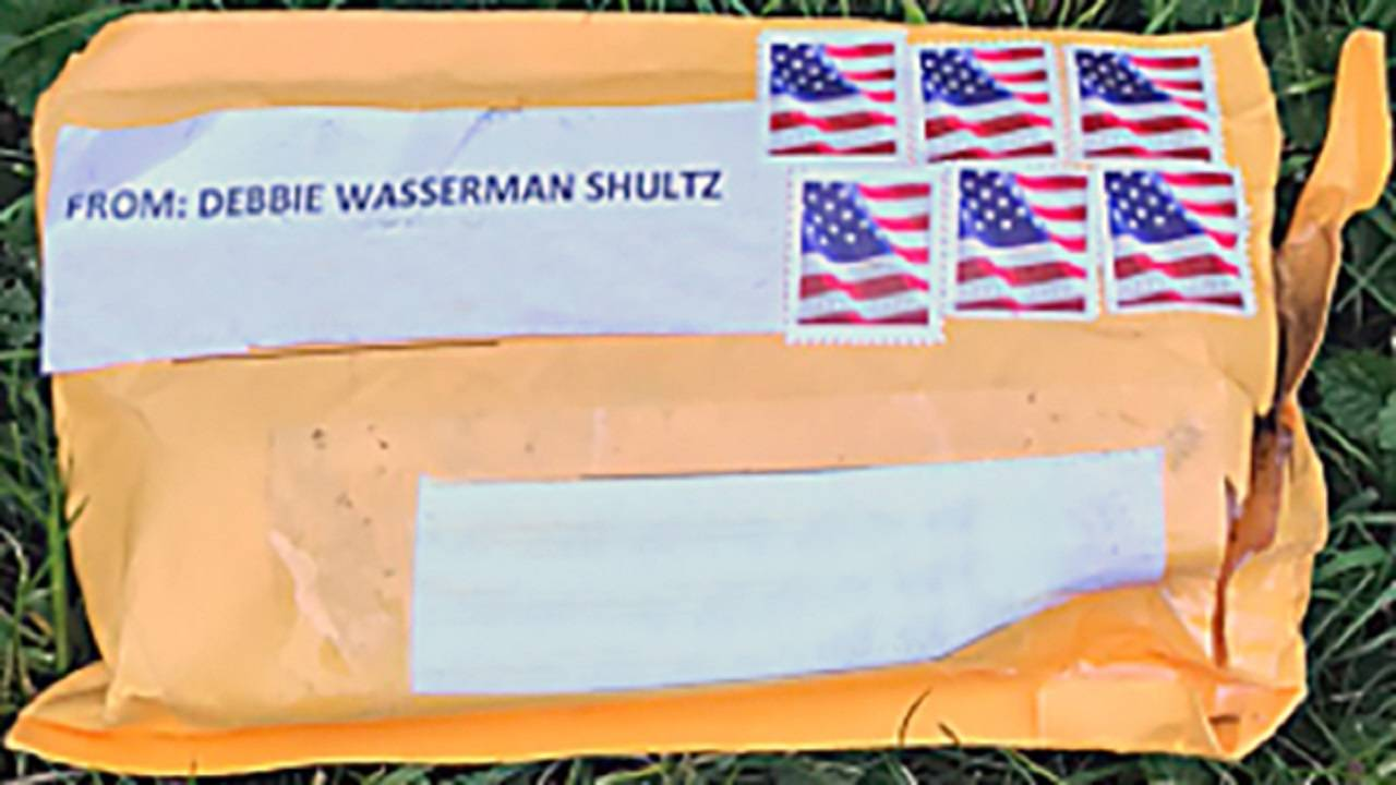 suspicious package sent to politicians