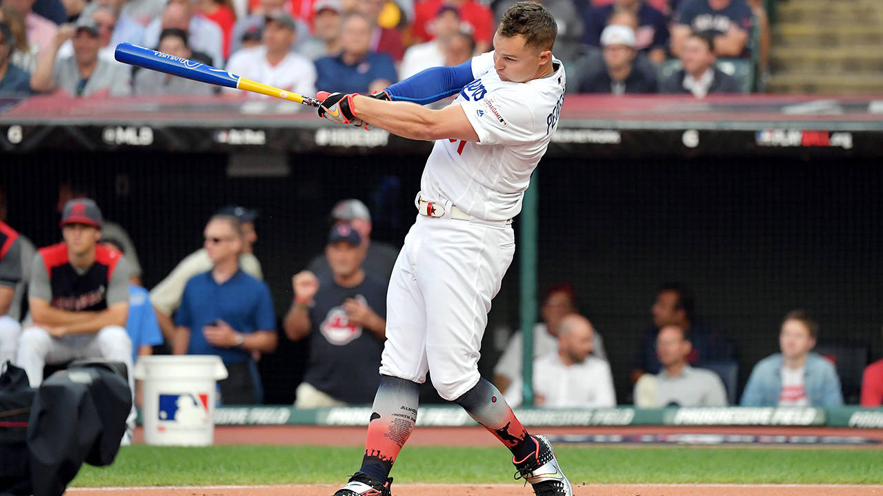 Joc Pederson 2019 hr derby getty
