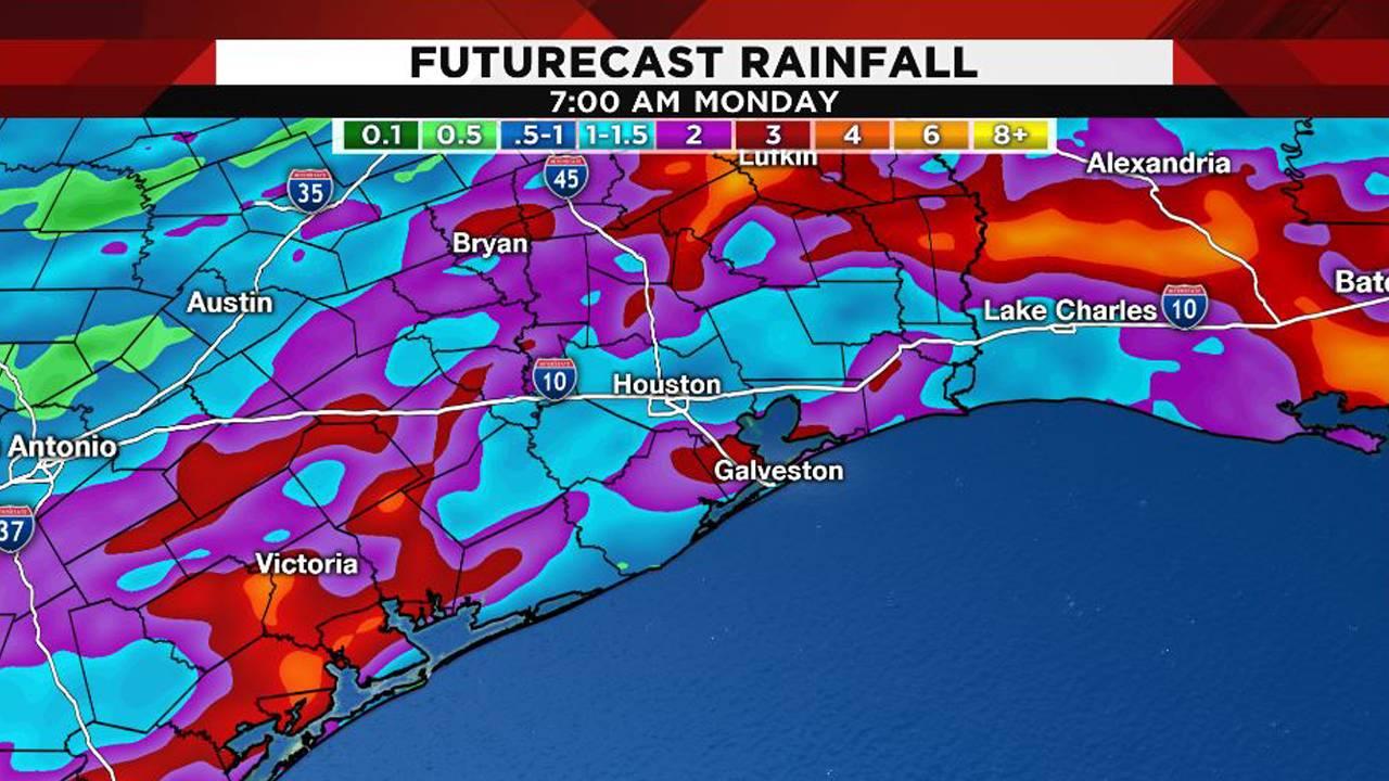Futurecast rainfall 4-8-19