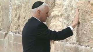 Pence visits the Western Wall in Jerusalem