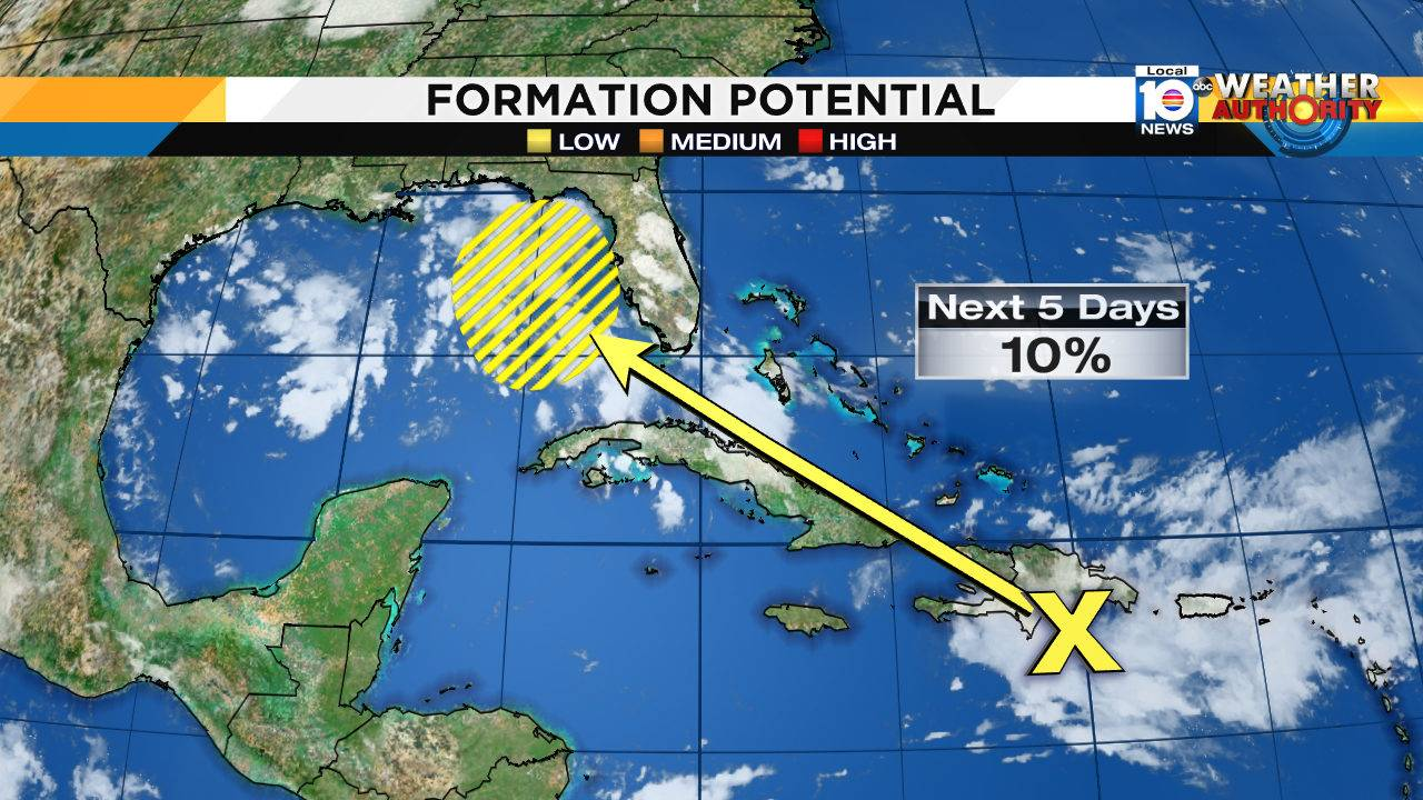 Weather Map For Florida.Nhc Monitoring Wave Near South Florida Dim Outlook For
