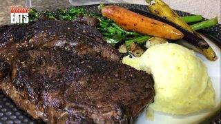 Elder Eats: Wagyu ribeye steak dinner for two