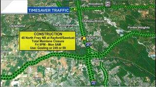 Traffic nightmare: I-45 to be closed in The Woodlands this weekend
