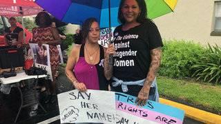 Loved ones gather to remember, demand justice for slain transgender woman