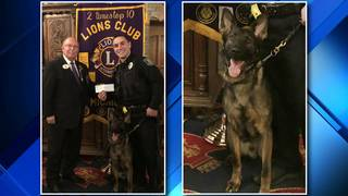 Chesterfield PD K-9 receives body armor donation