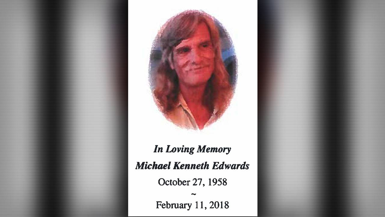 Michael Edwards Prayer Card