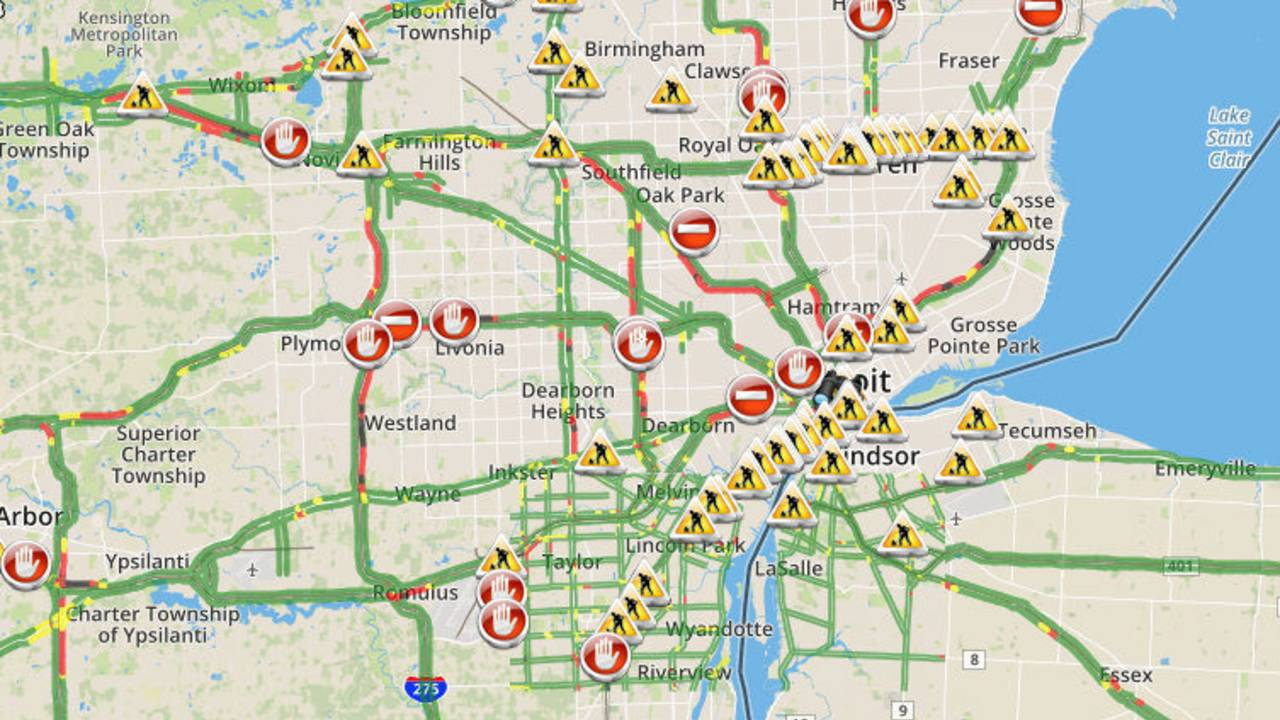 Metro Detroit Traffic Map.Live Metro Detroit Traffic Conditions Alerts Updates