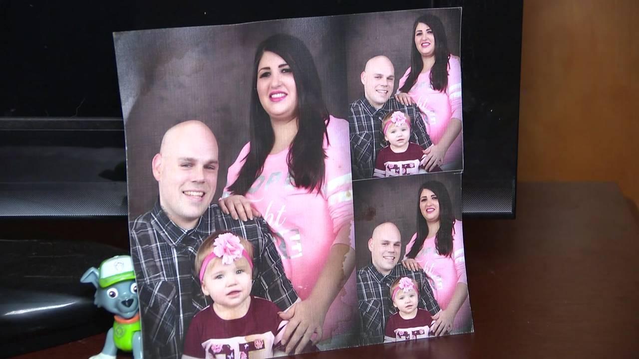 Billy Warford,Rochelle Salazar and their daughter.