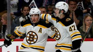 Bruins tie it late, beat Red Wings 3-2 in OT behind Marchand