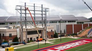 Liberty University installs 3,000-square-foot videoboard at Williams Stadium