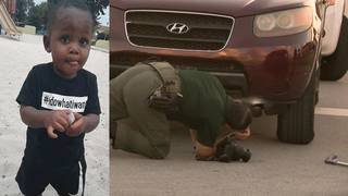 Woman beaten after 1-year-old boy fatally struck by SUV identified