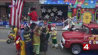 Detroit Fire Department Clown Team America's Thanksgiving Parade