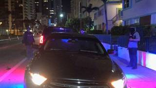 Detectives search for narcotics in Miami Beach building