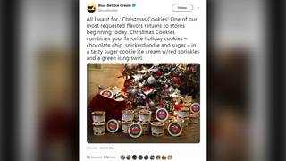 Blue Bell Released Christmas Cookie Ice Cream